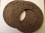 Brake lining Kit with Rivets set of 4
